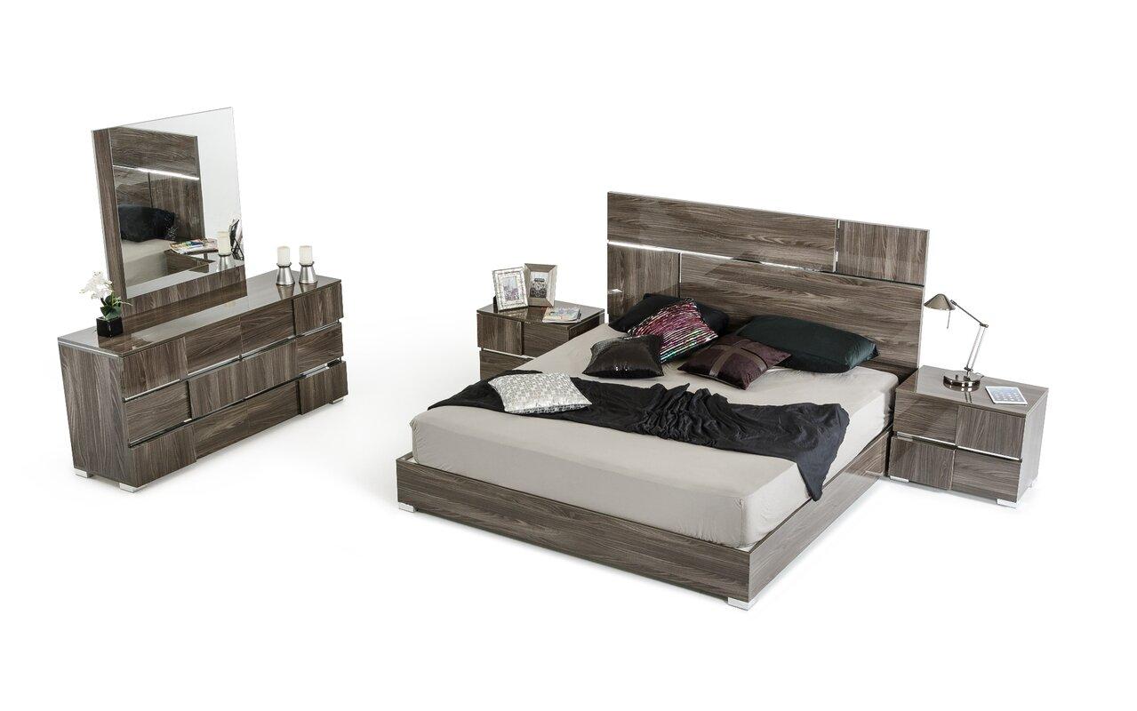 falbo platform 5 piece bedroom set