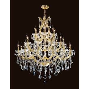 Kiazolu 28-Light Crystal Chandelier