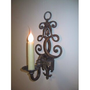 Fleur De Lis 1 Light Candle Wall