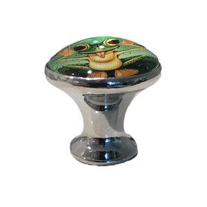 Frog Glass Mushroom Knob