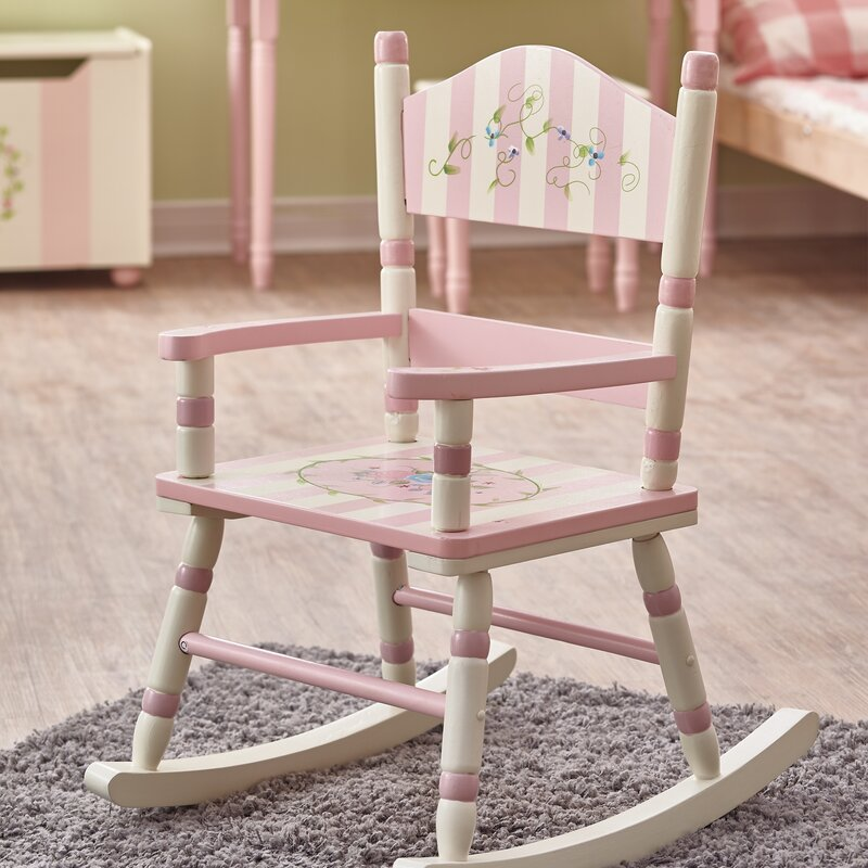 fantasy fields bouquet kids rocking chair & reviews | wayfair