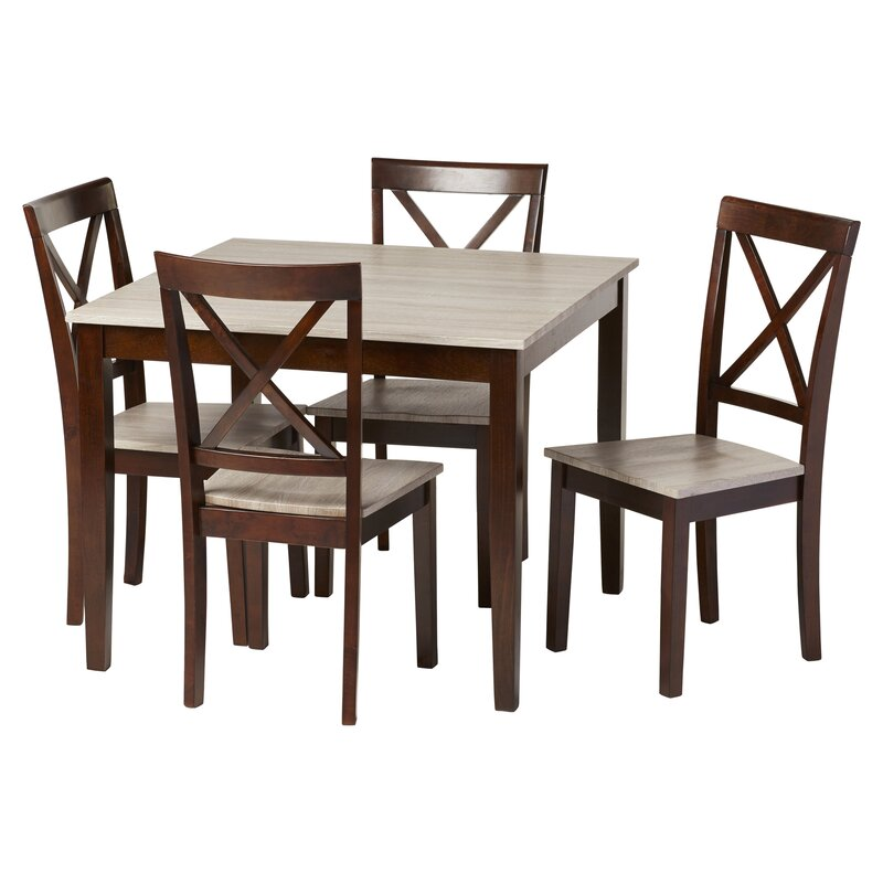 Captivating Tilley Rustic 5 Piece Dining Set