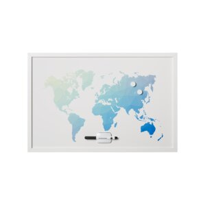 Magnetic j world map wayfair wall mounted magnetic whiteboard 24 gumiabroncs Gallery