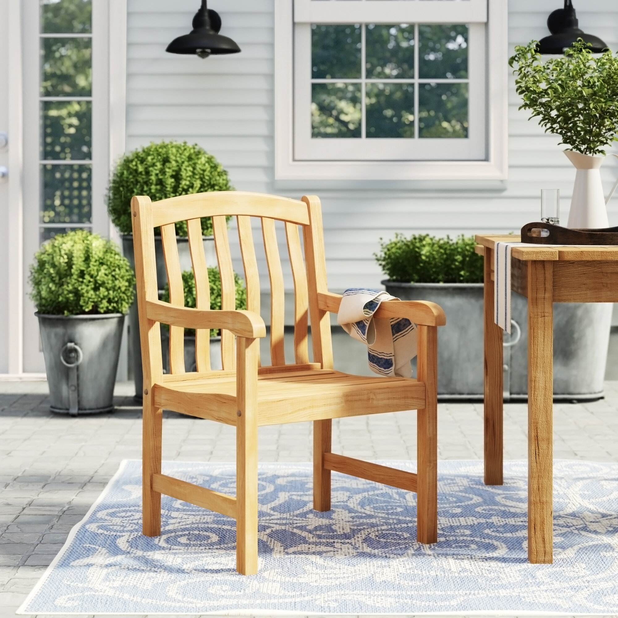 Stupendous Farmhouse Rustic Outdoor Dining Chairs Birch Lane Interior Design Ideas Gentotryabchikinfo