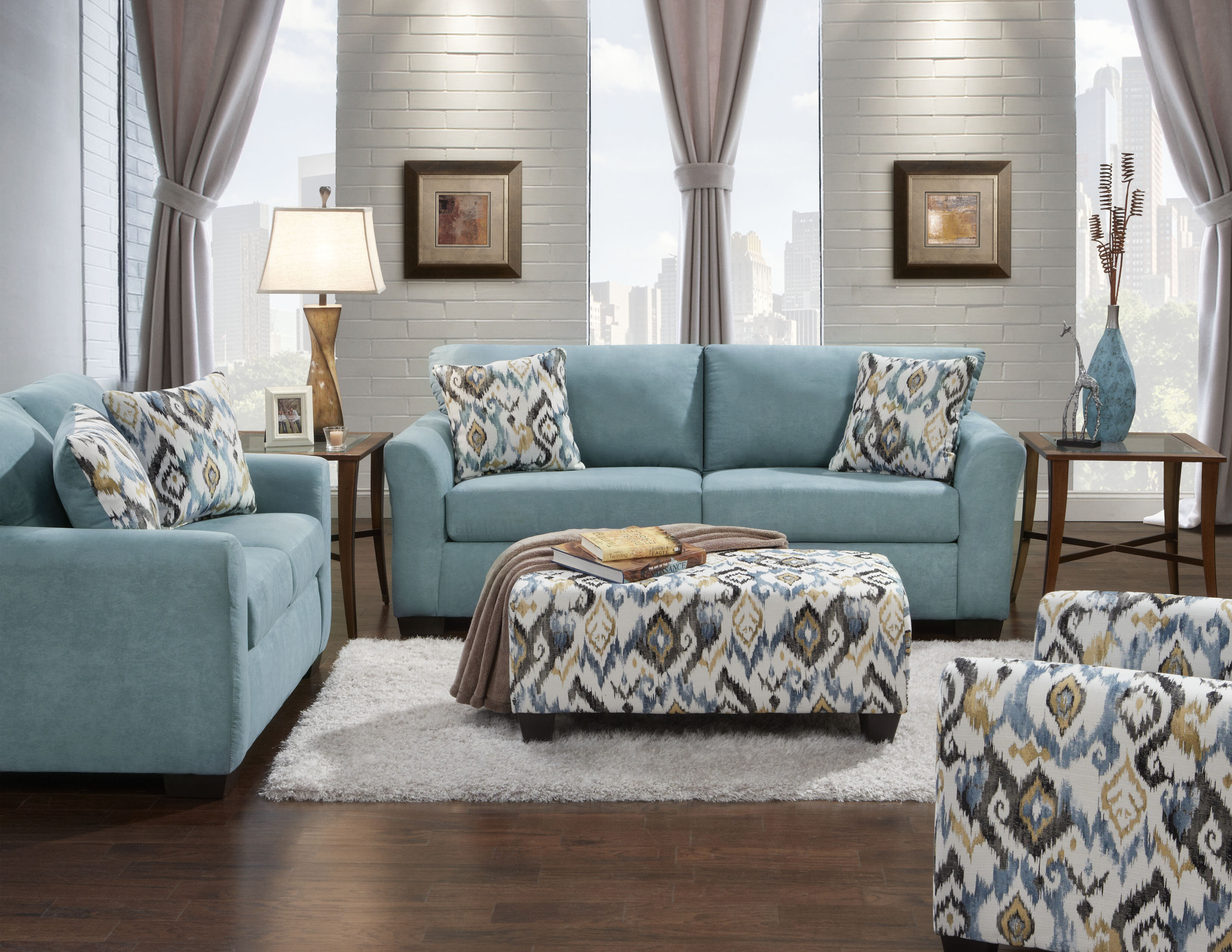 Roundhill Furniture Mazemic 2 Piece Living Room Set & Reviews | Wayfair