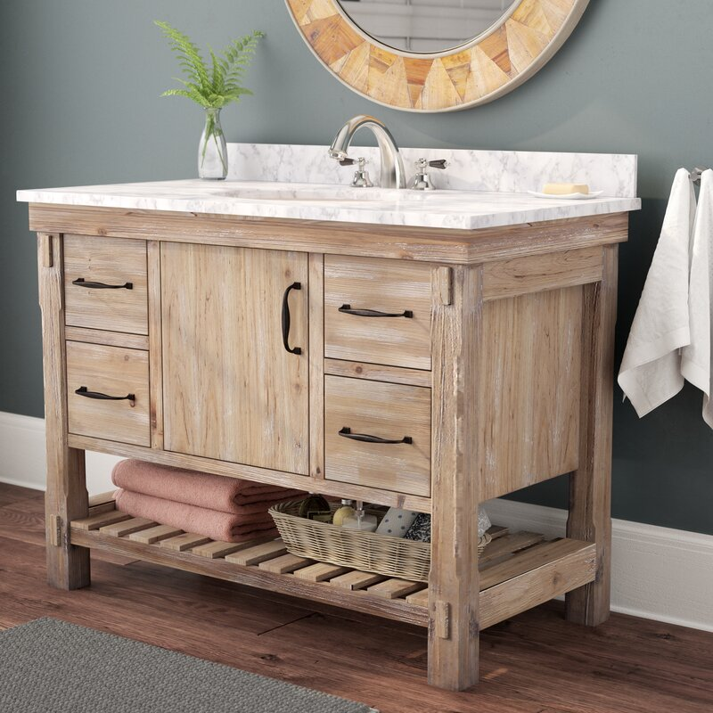 "Rustic Bathroom Vanity Set: Union Rustic Loftin 42"" Single Bathroom Vanity Set"