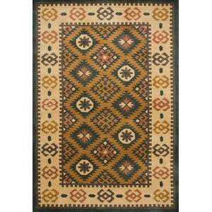 Southwest Hand-Tufted Mineral Green/Beige Area Rug