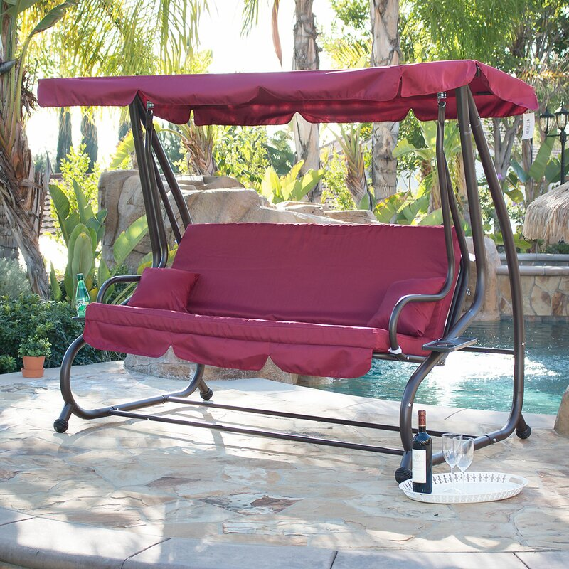 Beautiful Canopy Porch Swing With Stand