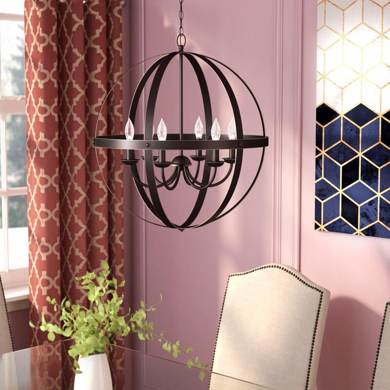 Willa Arlo Interiors Joon Indoor 6-Light LED Candle Style