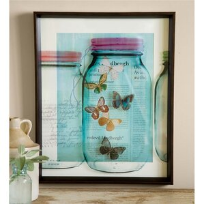 Framed Wall Pictures butterfly wall art | wayfair