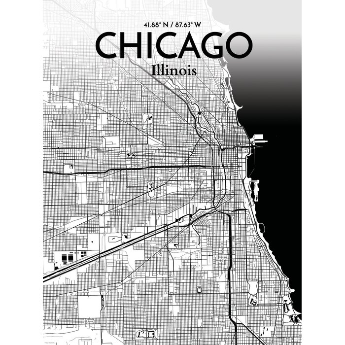 Chicago Map Poster on
