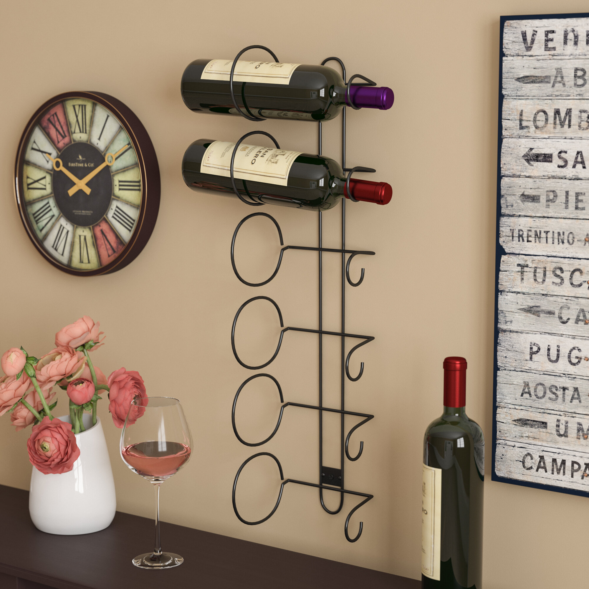 Andover Mills Phillip 6 Bottle Wall Mounted Wine Rack Reviews