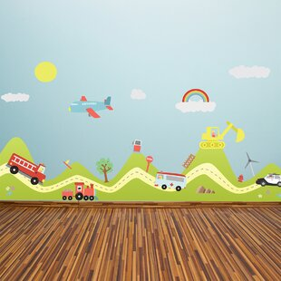Happy Hills And Happy Cars Wall Decal