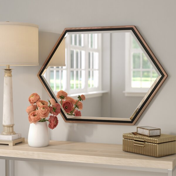 Willa Arlo Interiors Contemporary Metal Frame Accent Wall Mirror Reviews