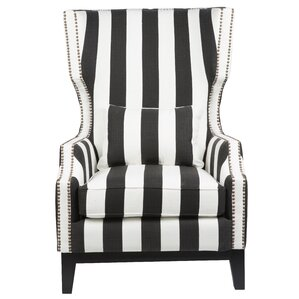 Cairns Stripped Wingback Chair by Willa Arlo Interiors