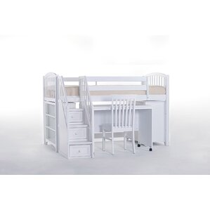 lyric store and study loft bed with stairs