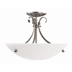 Georgian 3-Light Semi Flush Mount