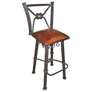 Chaucer Traditional 30 Bar Stool with Leather Seat (Set of 2)