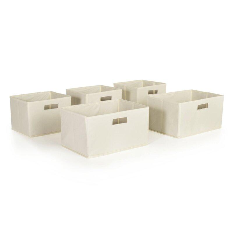 Genial 5 Piece Toy Storage Bin Set