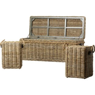 Roscoe Wicker Storage Entry Bench