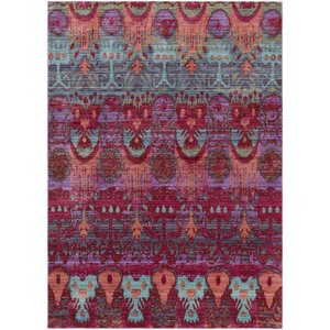 Fields Pink / Green Area Rug