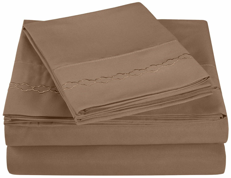 Benito Egyptian Quality Cotton Microfiber Sheet Set Reviews Wayfair