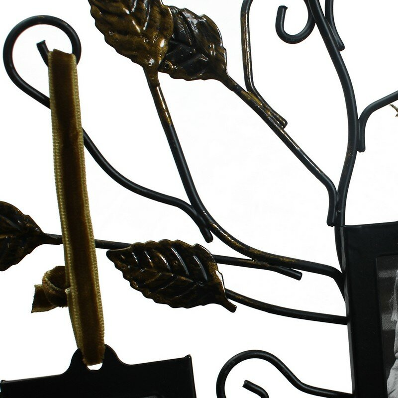 AdecoTrading 4 Opening Decorative Iron Tree Table Top Collage ...