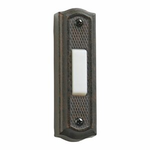door chime button in toasted sienna