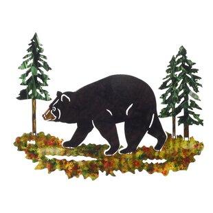3d black bear wall dcor - Black Bear Christmas Decor