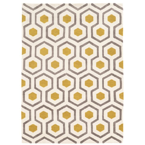 Noam Hand-Tufted Beige/Gray/Yellow Area Rug & Reviews