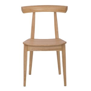 Upper Vobster Grain Solid Wood Dining Chair by George Oliver