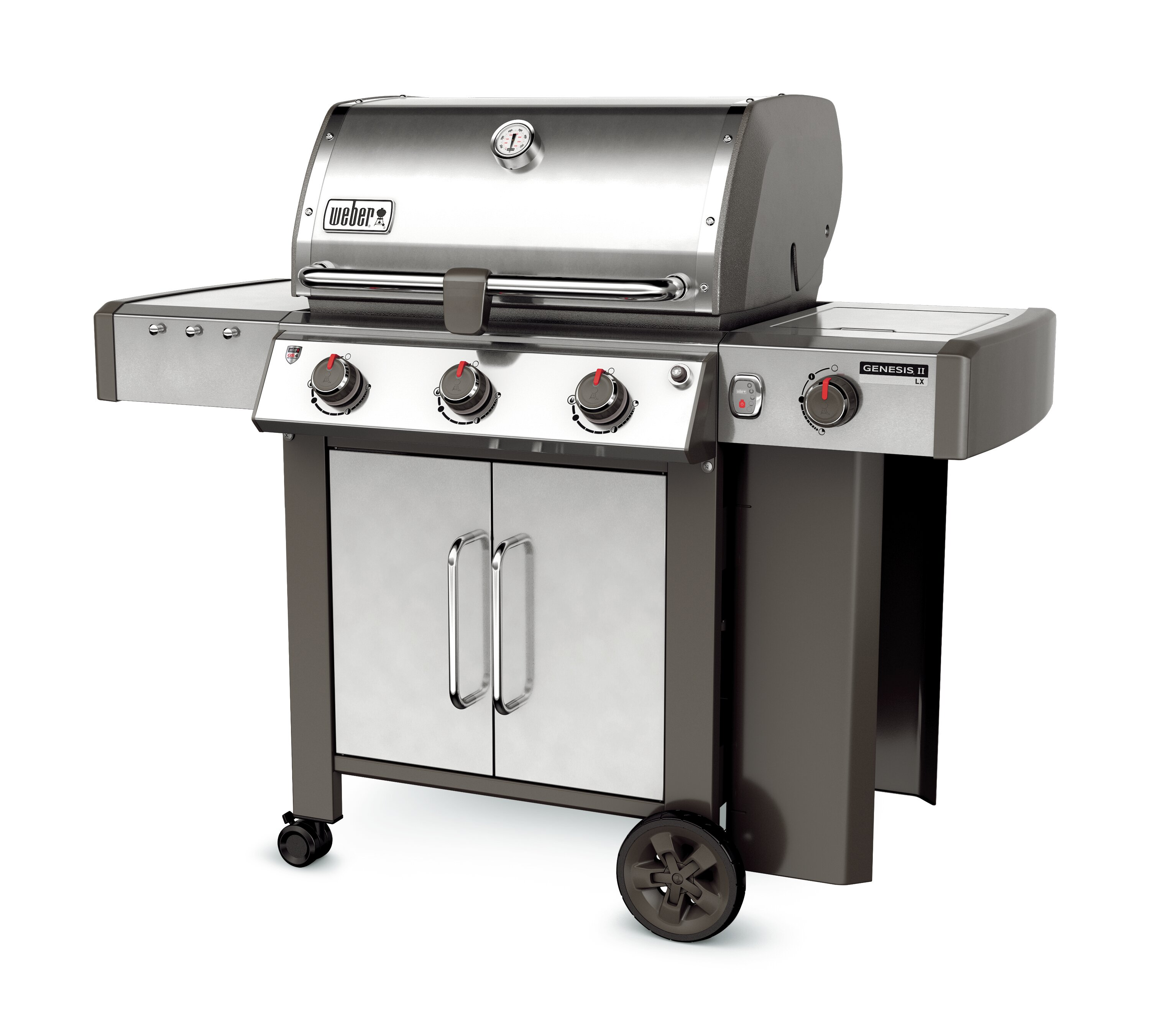 Weber Genesis II LX S 340 3 Burner Propane Gas Grill With Side Burner U0026  Reviews | Wayfair