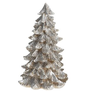 desmond small resin silver gold tree figurine - Christmas Decorations For Small Trees