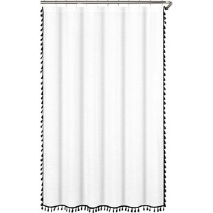 Modern Black Shower Curtains