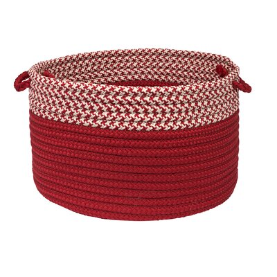 Brayden Studio Ariadne Dipped Basket Color: Red, Size: 10 H x 14 W x 14 D