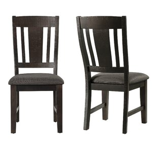 Acklin Solid Wood Dining Chair (Set of 2) by Union Rustic