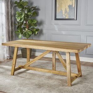 Ran Wood Dining Table by Gracie Oaks