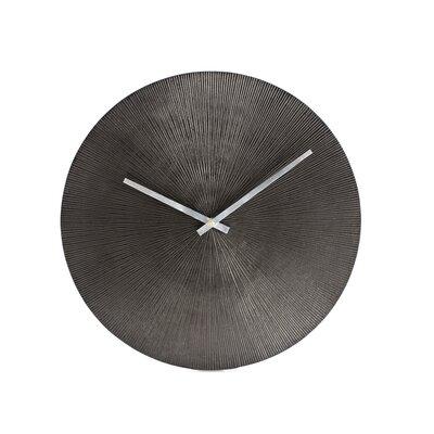 Bloomsbury Market Shiela 15 Wall Clock Color: Black Nickel