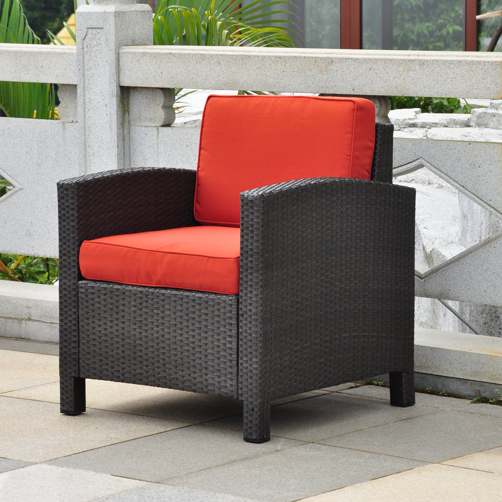Brayden Studio Katzer Wicker Resin Aluminum Contemporary Patio