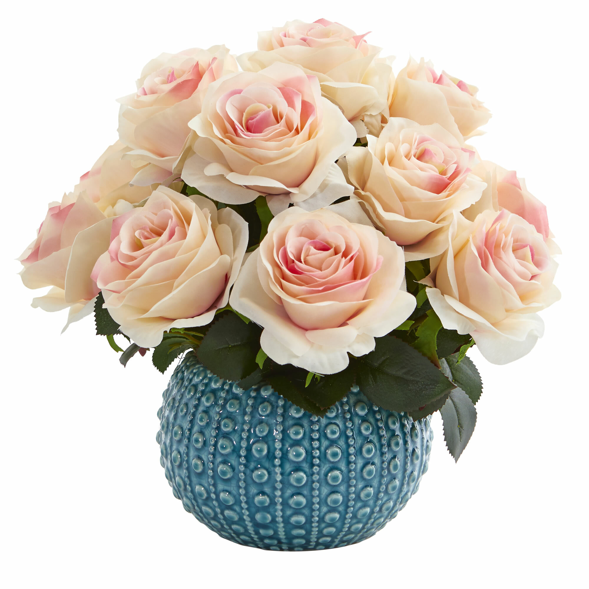 Rose Artificial Floral Arrangement In Ceramic Vase Reviews Joss