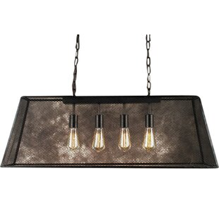 Pool table lights youll love wayfair edison lemuel 4 light pool table light greentooth Images