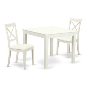 Cobleskill 3 Piece Solid Wood Dining Set