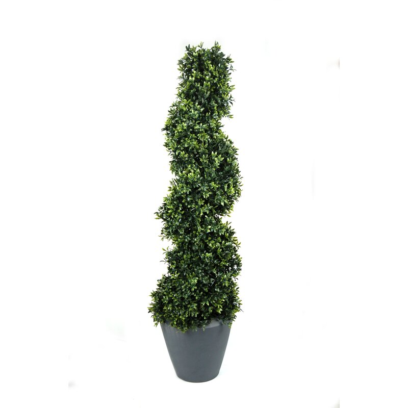 alcott hill artificial foliage topiary in pot | wayfair