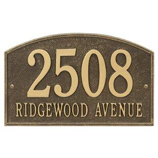 a3e2d7e6eafb Brass Address Plaques & Signs You'll Love | Wayfair.ca