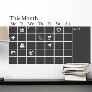 Rustic Chalkboard Calendar Wayfair