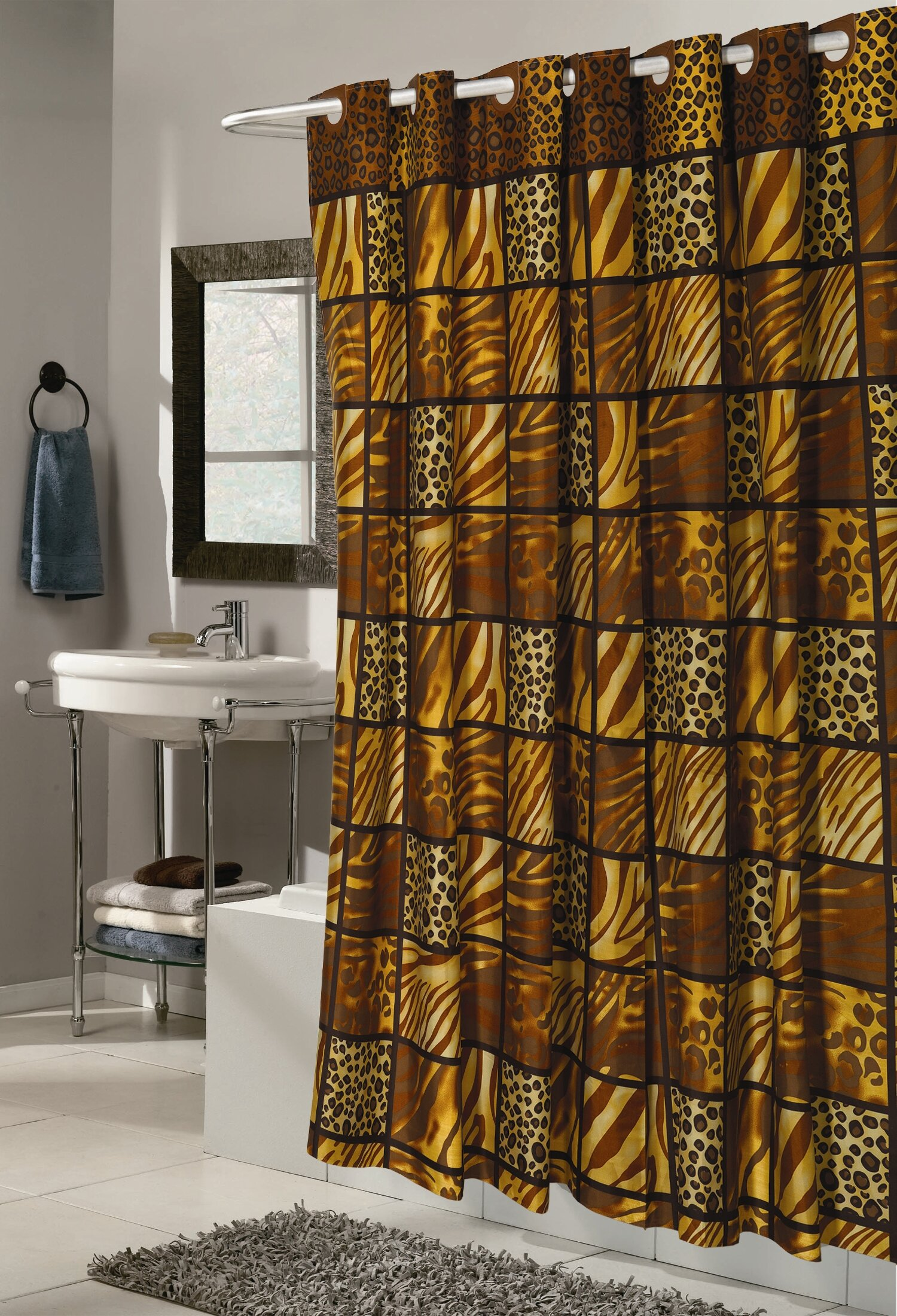 Pendik Wild Encounter Single Shower Curtain