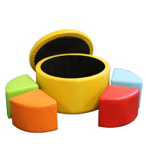 Round Storage Ottoman with Seating