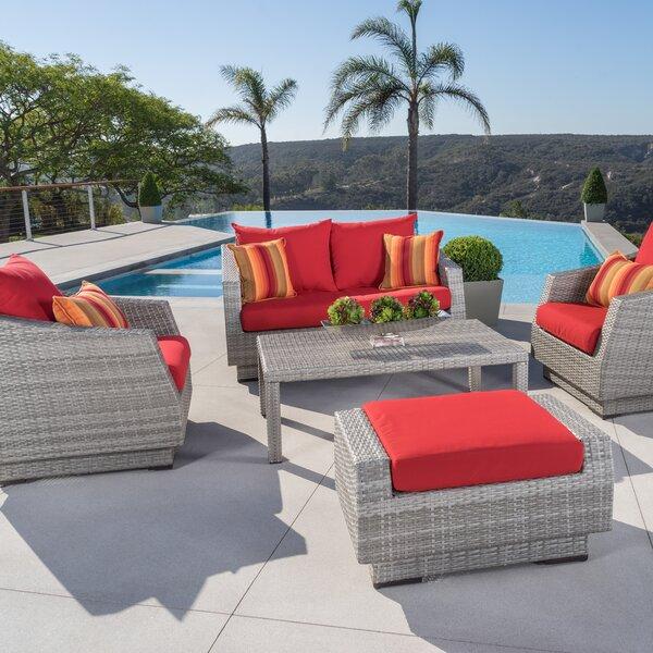 Alfonso 5 Piece Deep Seating Group With Sunbrella Cushion