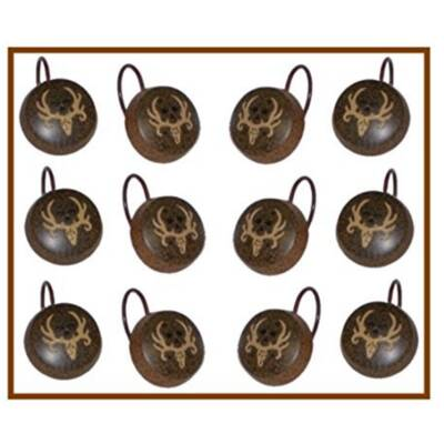 Rivers Edge Antler And Deer Shower Curtain Hooks