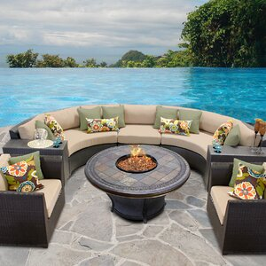 Barbados 8 Piece Sectional Set with Cushions